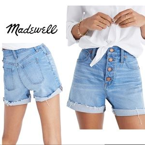 Madewell Button Front High Waist Denim Shorts (A60
